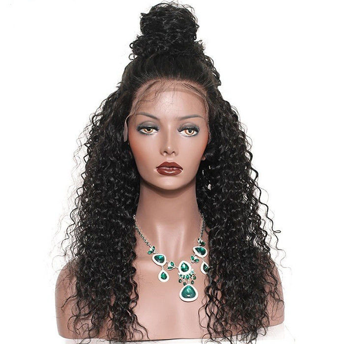 Glam 180 Density Brazilian Virgin Full Lace Human Hair Wigs With Baby Hair